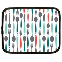 Spoon Fork Knife Pattern Netbook Case (xxl)  by Onesevenart