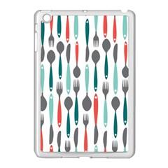 Spoon Fork Knife Pattern Apple Ipad Mini Case (white) by Onesevenart