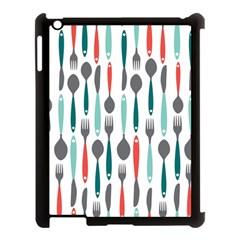 Spoon Fork Knife Pattern Apple Ipad 3/4 Case (black) by Onesevenart