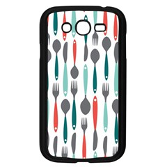 Spoon Fork Knife Pattern Samsung Galaxy Grand Duos I9082 Case (black) by Onesevenart