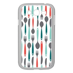 Spoon Fork Knife Pattern Samsung Galaxy Grand Duos I9082 Case (white) by Onesevenart