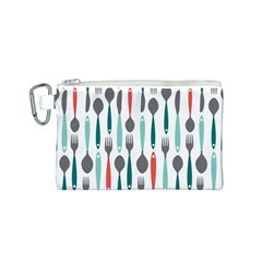 Spoon Fork Knife Pattern Canvas Cosmetic Bag (s) by Onesevenart