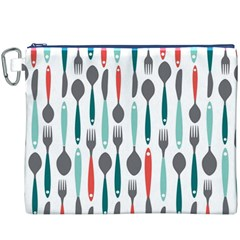 Spoon Fork Knife Pattern Canvas Cosmetic Bag (xxxl) by Onesevenart