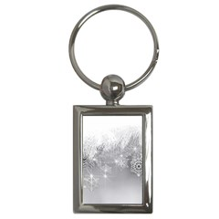 New Year Holiday Snowflakes Tree Branches Key Chains (rectangle)  by Onesevenart