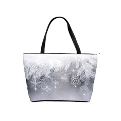 New Year Holiday Snowflakes Tree Branches Shoulder Handbags by Onesevenart