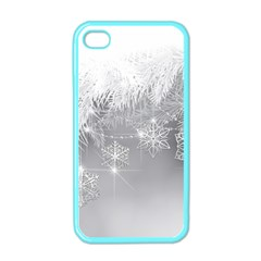 New Year Holiday Snowflakes Tree Branches Apple Iphone 4 Case (color) by Onesevenart