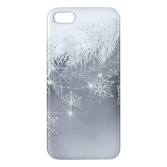 New Year Holiday Snowflakes Tree Branches Apple Iphone 5 Premium Hardshell Case by Onesevenart
