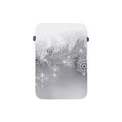 New Year Holiday Snowflakes Tree Branches Apple Ipad Mini Protective Soft Cases by Onesevenart