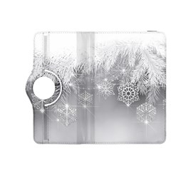 New Year Holiday Snowflakes Tree Branches Kindle Fire Hdx 8 9  Flip 360 Case by Onesevenart