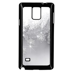 New Year Holiday Snowflakes Tree Branches Samsung Galaxy Note 4 Case (black) by Onesevenart