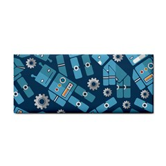 Seamless Pattern Robot Cosmetic Storage Cases by Onesevenart