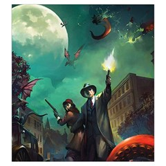 Arkham Horror Lcg Token Bag By Thomas Covert   Drawstring Pouch (large)   08y4w3wm7jjq   Www Artscow Com Front