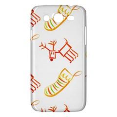 Stocking Reindeer Wood Pattern  Samsung Galaxy Mega 5 8 I9152 Hardshell Case  by Onesevenart