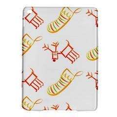 Stocking Reindeer Wood Pattern  Ipad Air 2 Hardshell Cases by Onesevenart
