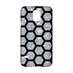 Hexagon2 Black Marble & Gray Marble (r) Samsung Galaxy S5 Hardshell Case  by trendistuff