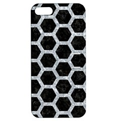 Hexagon2 Black Marble & Gray Marble Apple Iphone 5 Hardshell Case With Stand by trendistuff