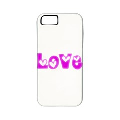 Pink Love Hearts Typography Apple Iphone 5 Classic Hardshell Case (pc+silicone) by yoursparklingshop