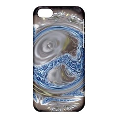 Silver Gray Blue Geometric Art Circle Apple Iphone 5c Hardshell Case by yoursparklingshop