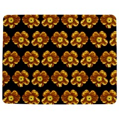 Yellow Brown Flower Pattern On Brown Jigsaw Puzzle Photo Stand (rectangular) by Costasonlineshop
