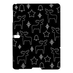 Black Xmas Pattern Samsung Galaxy Tab S (10 5 ) Hardshell Case  by Valentinaart