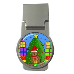 Xmas Gifts Money Clips (round)  by Valentinaart