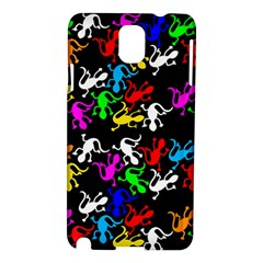 Colorful Lizards Pattern Samsung Galaxy Note 3 N9005 Hardshell Case by Valentinaart