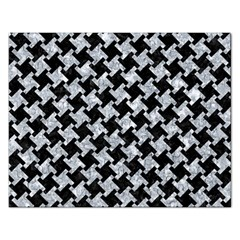 Houndstooth2 Black Marble & Gray Marble Jigsaw Puzzle (rectangular) by trendistuff