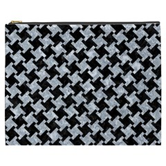 Houndstooth2 Black Marble & Gray Marble Cosmetic Bag (xxxl) by trendistuff