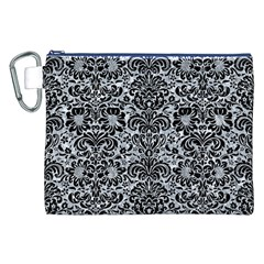 Damask2 Black Marble & Gray Marble (r) Canvas Cosmetic Bag (xxl) by trendistuff