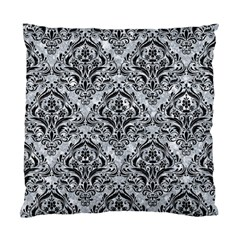 Damask1 Black Marble & Gray Marble (r) Standard Cushion Case (one Side) by trendistuff