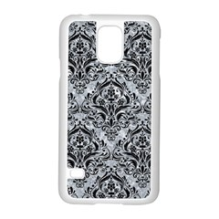 Damask1 Black Marble & Gray Marble (r) Samsung Galaxy S5 Case (white) by trendistuff