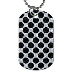 Circles2 Black Marble & Gray Marble (r) Dog Tag (two Sides) by trendistuff