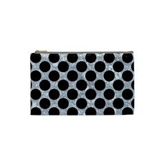 Circles2 Black Marble & Gray Marble (r) Cosmetic Bag (small) by trendistuff