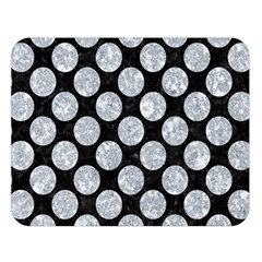 Circles2 Black Marble & Gray Marble Double Sided Flano Blanket (large) by trendistuff