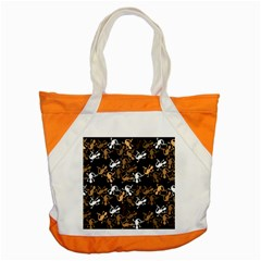 Brown Lizards Pattern Accent Tote Bag by Valentinaart