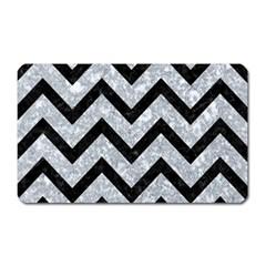 Chevron9 Black Marble & Gray Marble (r) Magnet (rectangular) by trendistuff