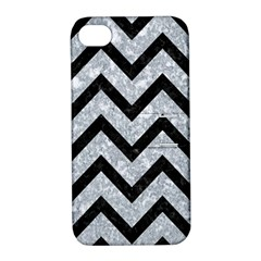 Chevron9 Black Marble & Gray Marble (r) Apple Iphone 4/4s Hardshell Case With Stand by trendistuff