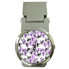 Lizards Pattern   Purple Money Clip Watches by Valentinaart