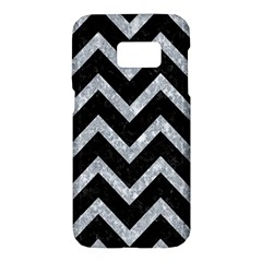 Chevron9 Black Marble & Gray Marble Samsung Galaxy S7 Hardshell Case  by trendistuff