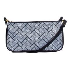 Brick2 Black Marble & Gray Marble (r) Shoulder Clutch Bag by trendistuff