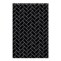 Brick2 Black Marble & Gray Marble Shower Curtain 48  X 72  (small) by trendistuff