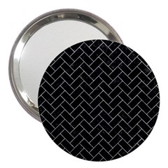 Brick2 Black Marble & Gray Marble 3  Handbag Mirror by trendistuff