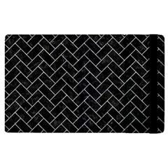 Brick2 Black Marble & Gray Marble Apple Ipad 3/4 Flip Case by trendistuff