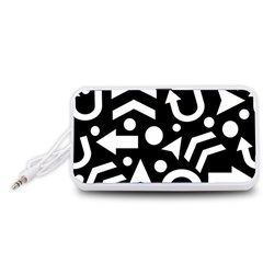 Right Direction Portable Speaker (white)  by Valentinaart