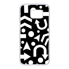 Right Direction Samsung Galaxy S7 Edge White Seamless Case by Valentinaart