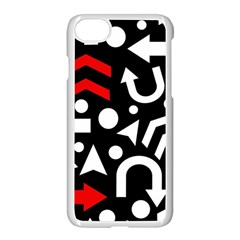 Right direction - red Apple iPhone 7 Seamless Case (White) by Valentinaart