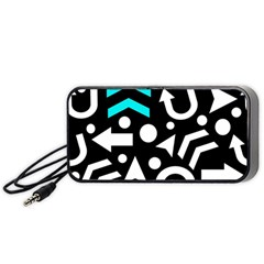 Right Direction   Cyan Portable Speaker (black)  by Valentinaart