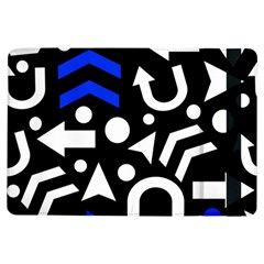 Right Direction   Blue  Ipad Air Flip by Valentinaart