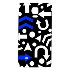 Right Direction   Blue  Galaxy Note 4 Back Case by Valentinaart