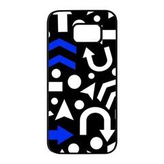 Right Direction   Blue  Samsung Galaxy S7 Edge Black Seamless Case